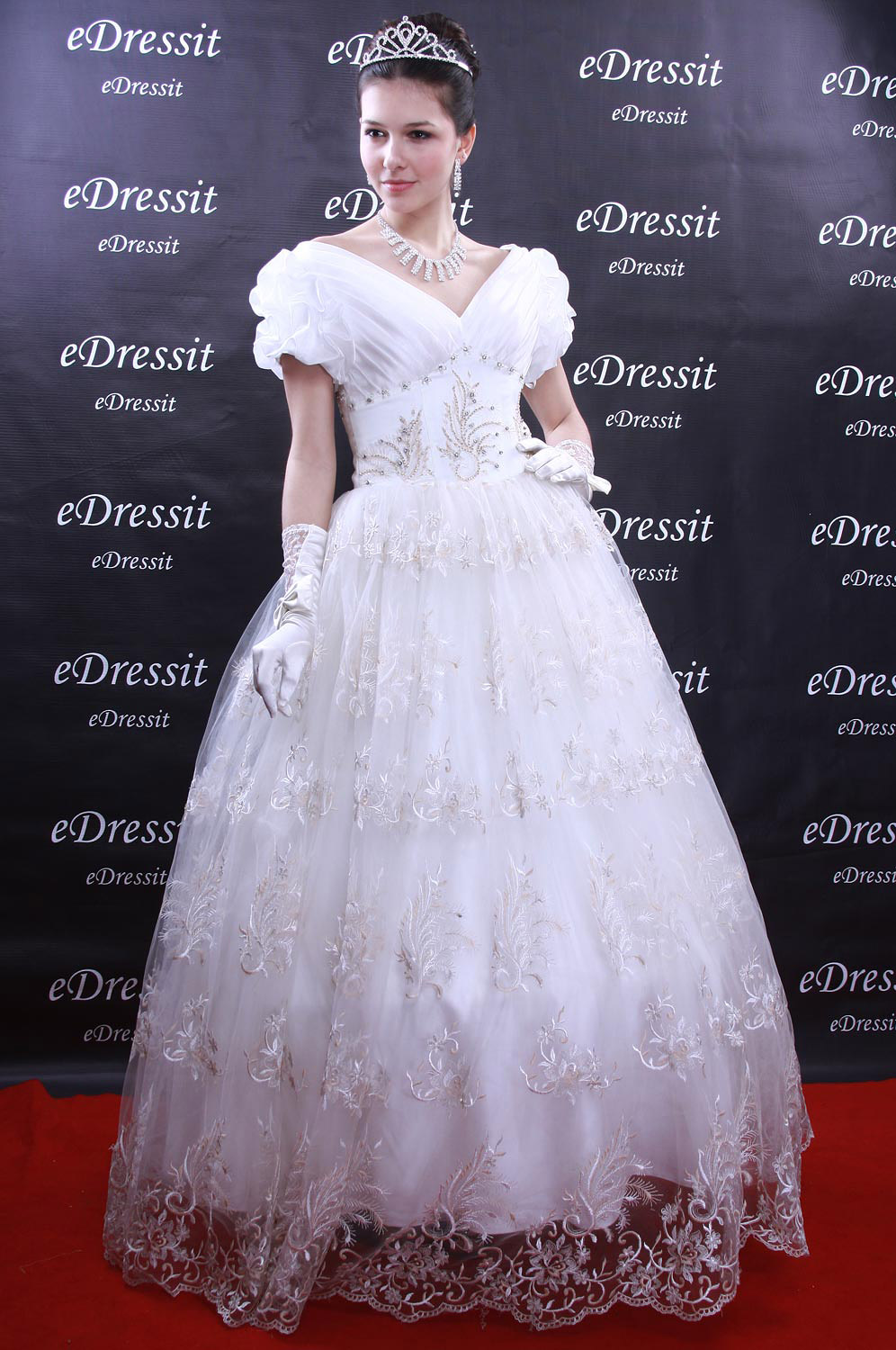 Christmas Discount 50% Off eDressit White Prom Gown Evening Wedding Dress (01091307)