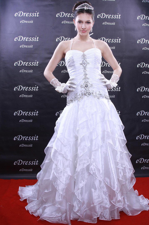 eDressit Weiss Abendkleid Ballkleid Prom Hochzeit(Maßanfertigung) (01090807)