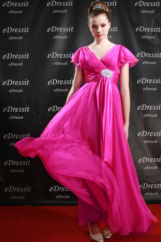 eDressit Robe de Soirée Jolie Rose V-col (00083112)