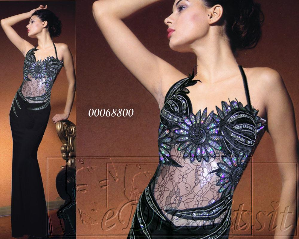 eDressit Schwarzes Abendkleid Ballkleid (00068800)