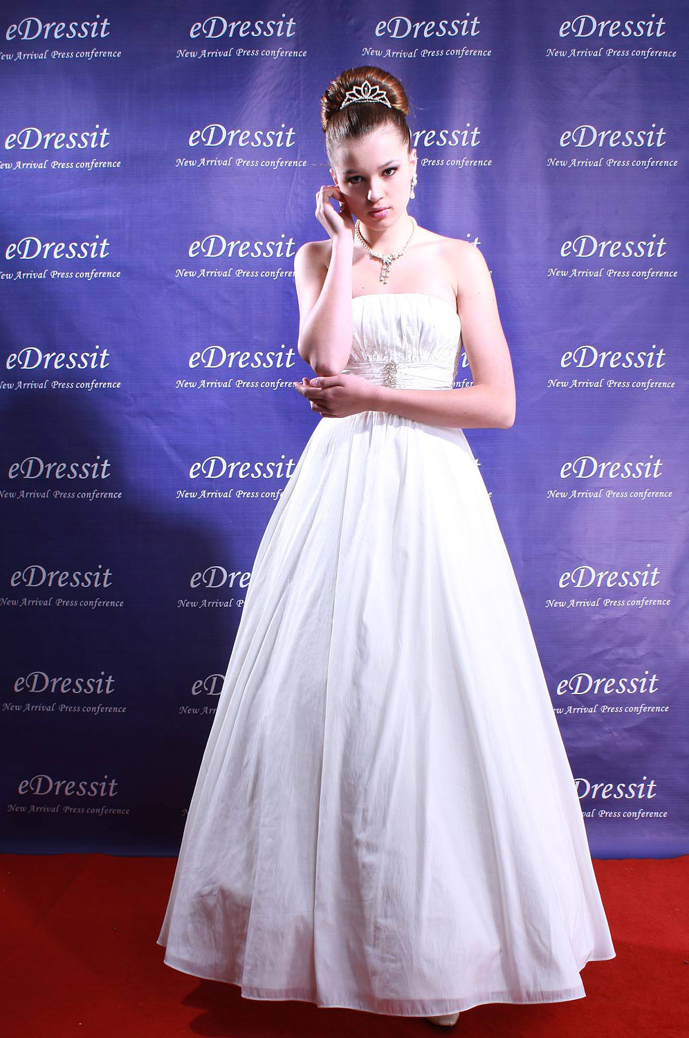 eDressit White Prom Gown Wedding Dress (Custom-made) (01080407)