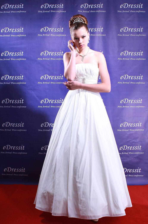 eDressit White Prom Gown robe de marié(Sur mesure) (01080407)
