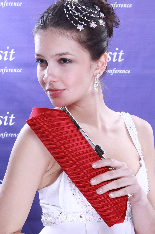 eDressit Rot auren-Handtasche/Portemonnaie (08090502)