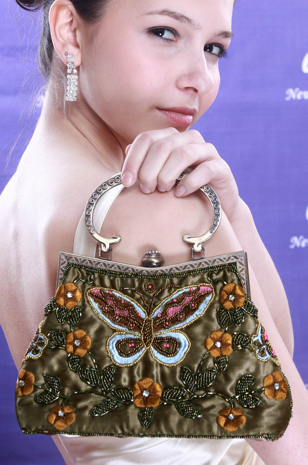 eDressit butterfly shape sequins Lady's Handbag/Purse (08091104)