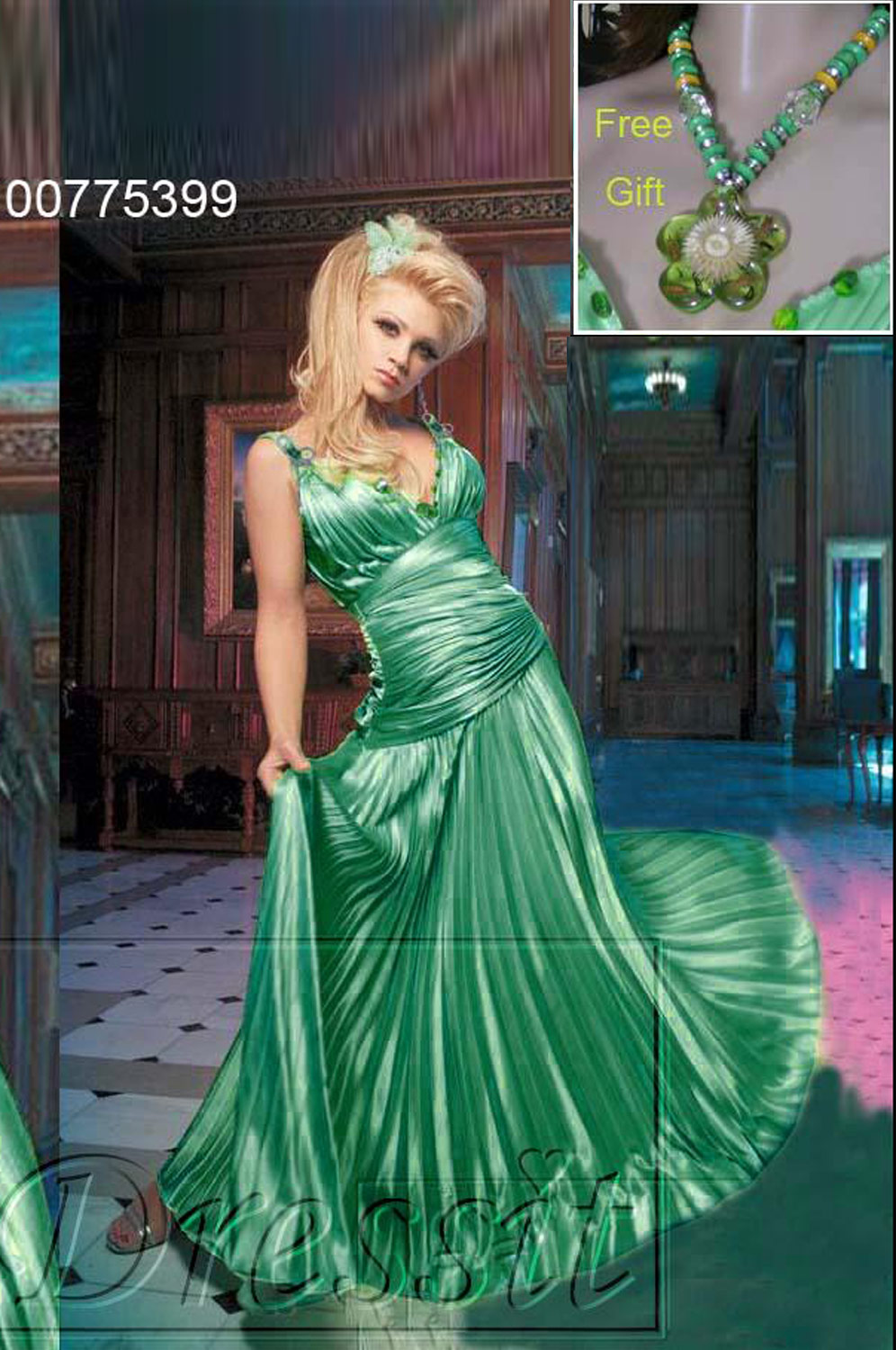 On sale !! eDressit green  Prom Gown Evening Dress (00775399)