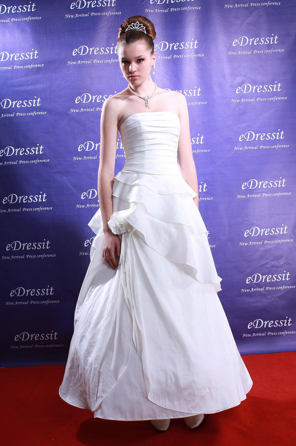 eDressit White Prom Gown Wedding Dress (Custom-made) (01080707)