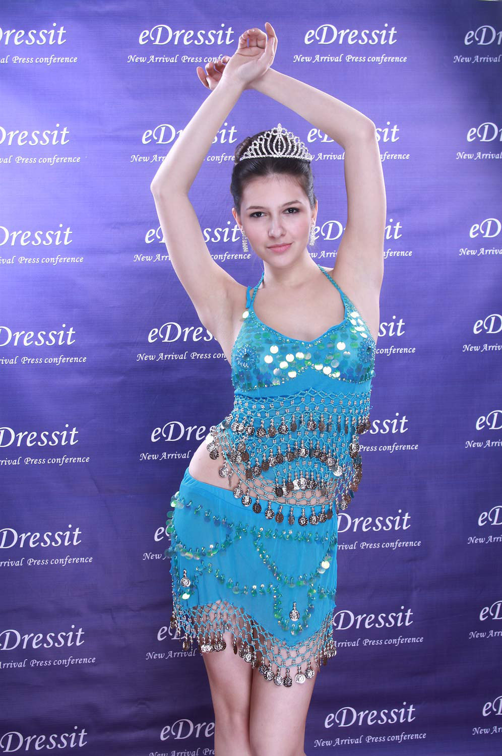 eDressit Blue Sexy Sequins Dancing Dress (06160205)