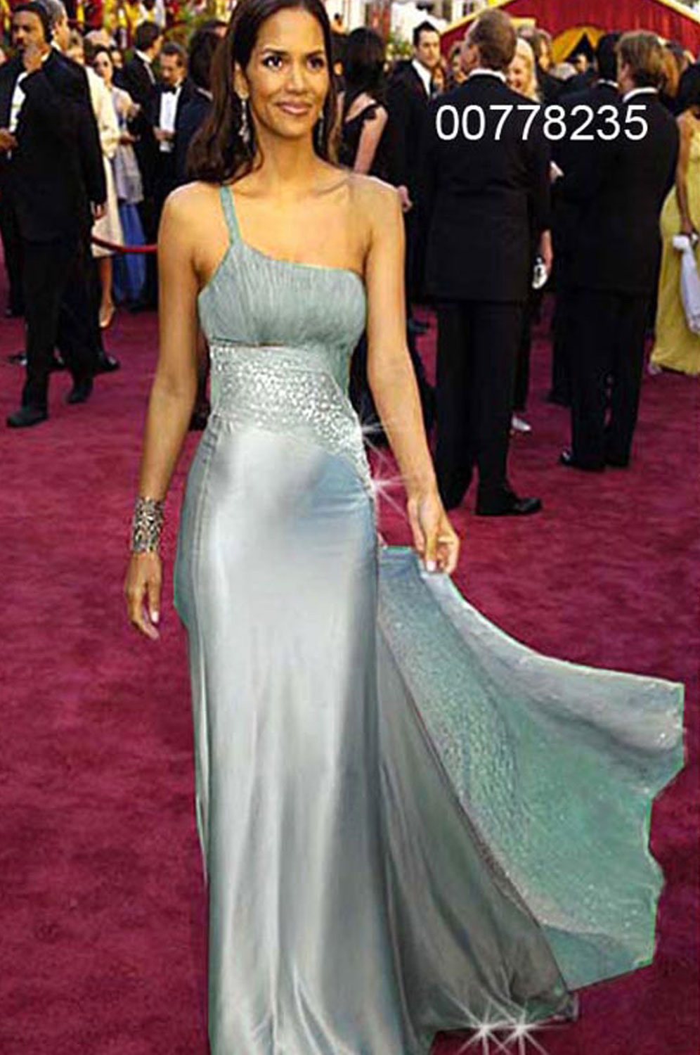 eDressit Halle Berry  Grey Party Evening Dress (00778235)