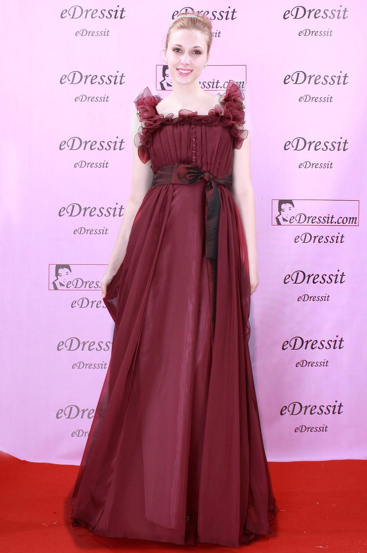 eDressit Burgundy Vestido de Fiesta Noche (00081017)
