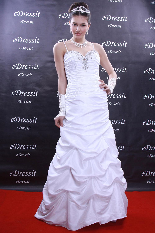 eDressit White Prom Gown Evening Wedding Dress(Custom-made) (01090907)