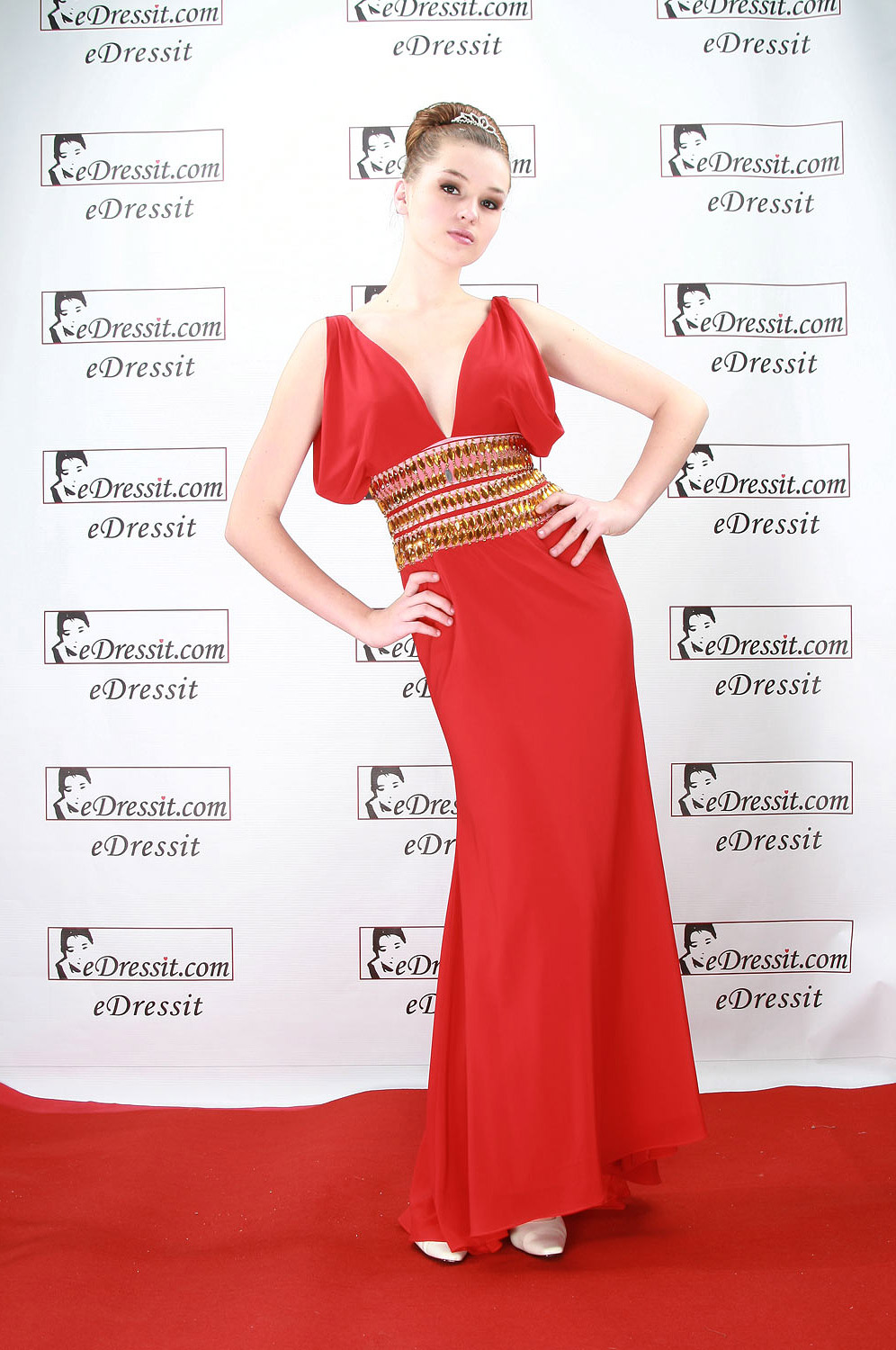 eDressit Red Elegant Prom Gown Evening Dress (00084302)