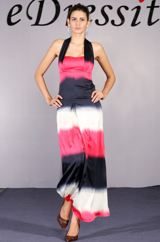 eDressit Halter Gradient Farbe Abendkleid (00096656)