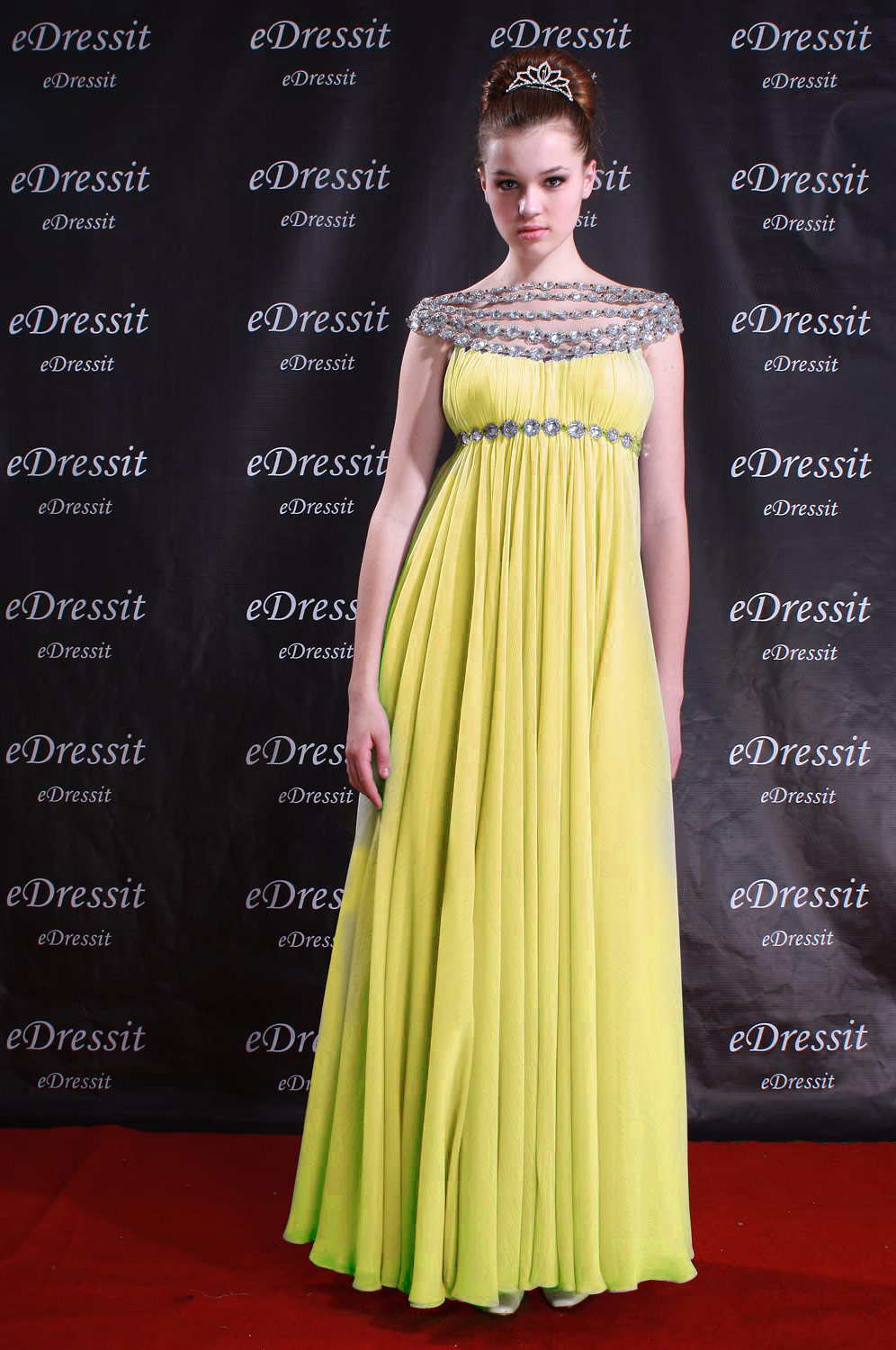 ON Sale!!eDressit Celebrity Sexy yellow Prom Gown Evening Dress (00777335d)