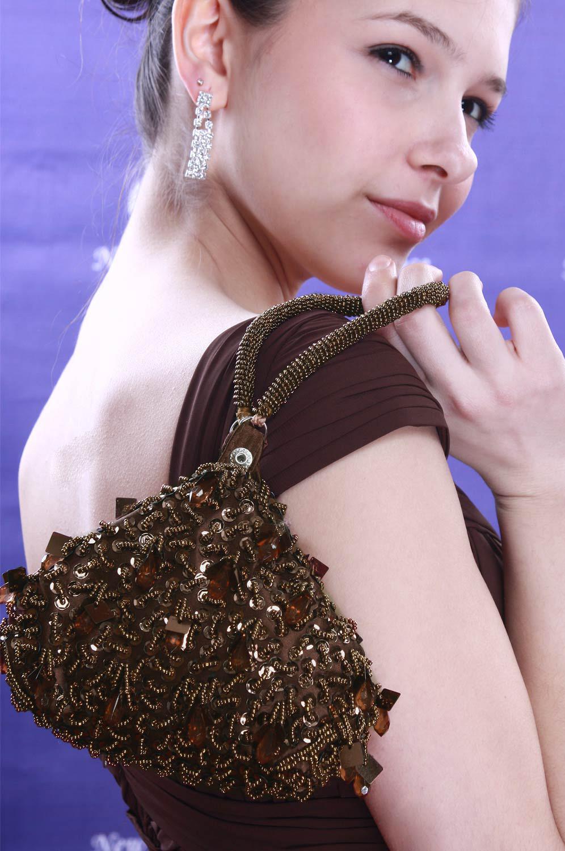 eDressit Brown Lady Bag Handbag Shouler/Clutch BAG (08091520)