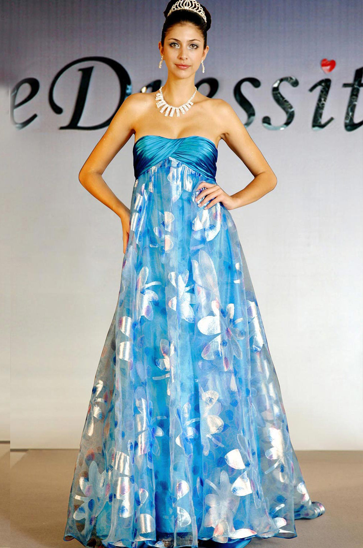 eDressit Robe sans Bretelles et Bleu (00094568)