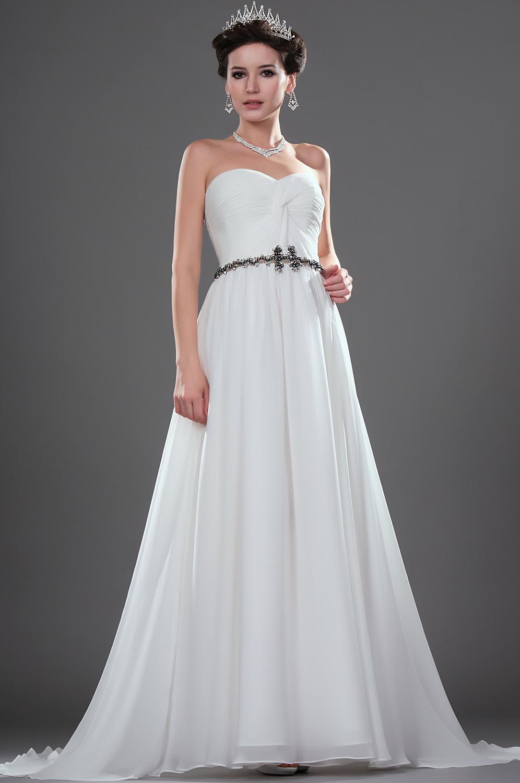 eDressit Simple Elegante Vestido de boda sin tirante (01111707)