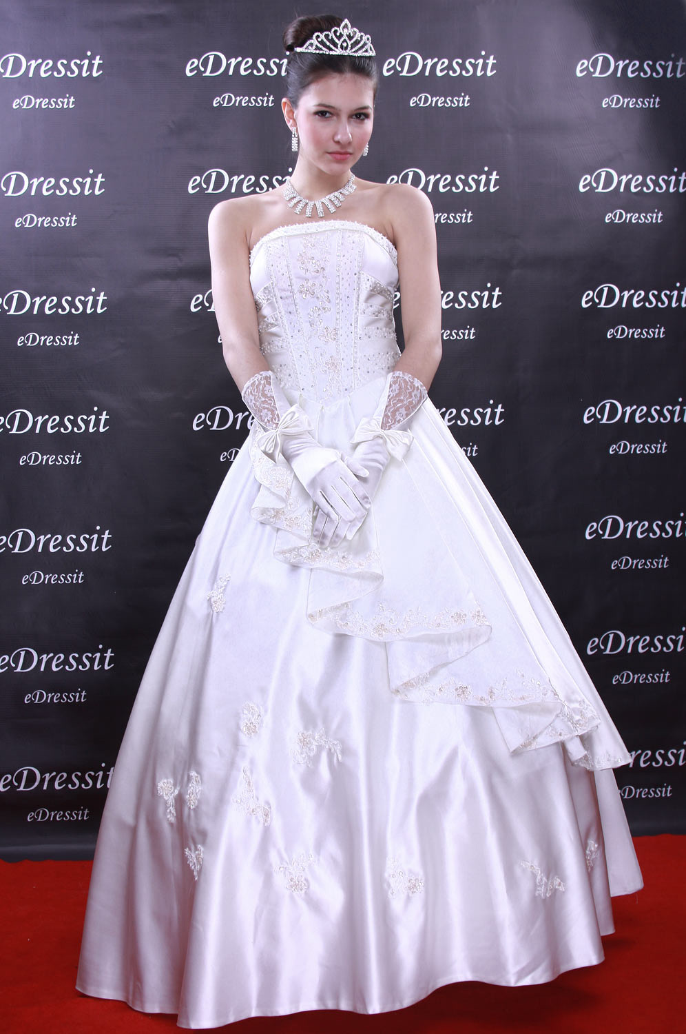 Christmas Discount 50% Off eDressit White Prom Gown Evening Wedding Dress (01091107)