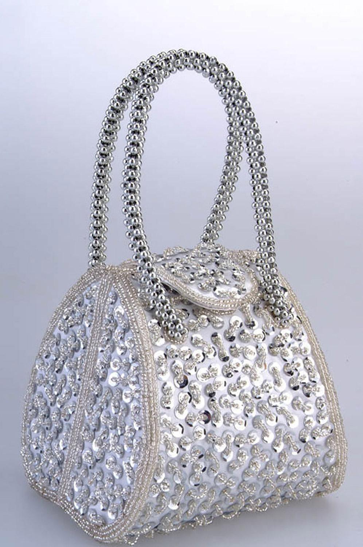 eDressit Silberne Frauen-Handtasche/Portemonnaie (08130126)