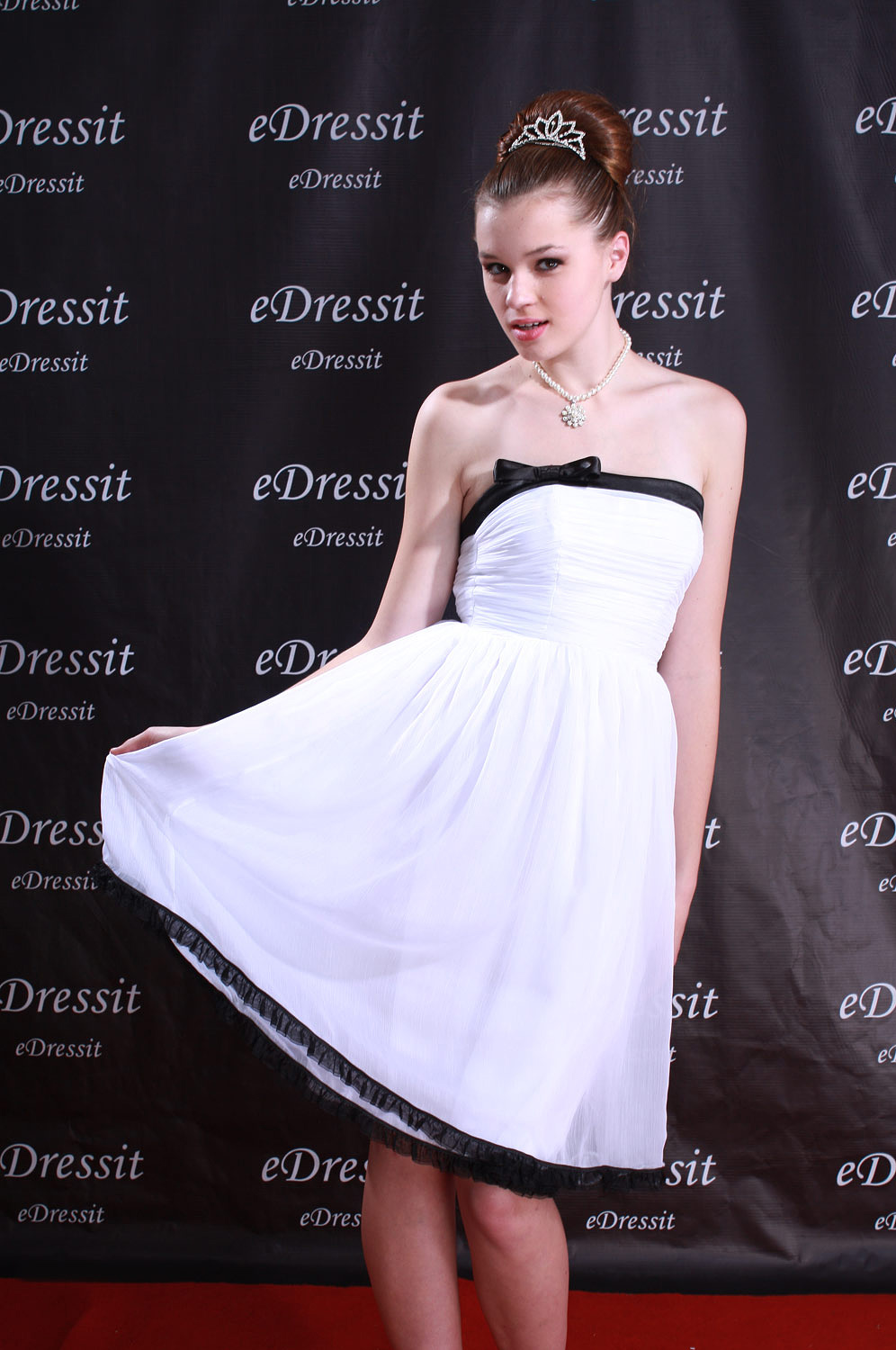 eDressit White Mini Short Ball Gown Cocktail Dress (04771407)