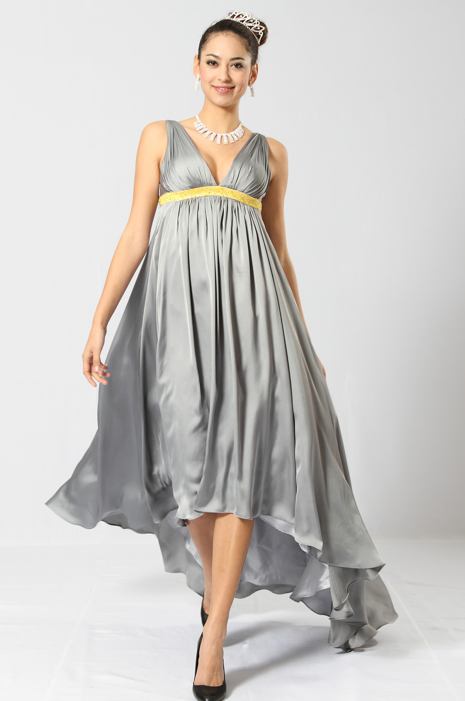 eDressit Elegant V-Schnitt Träger glanz Abendkleid (00100908)