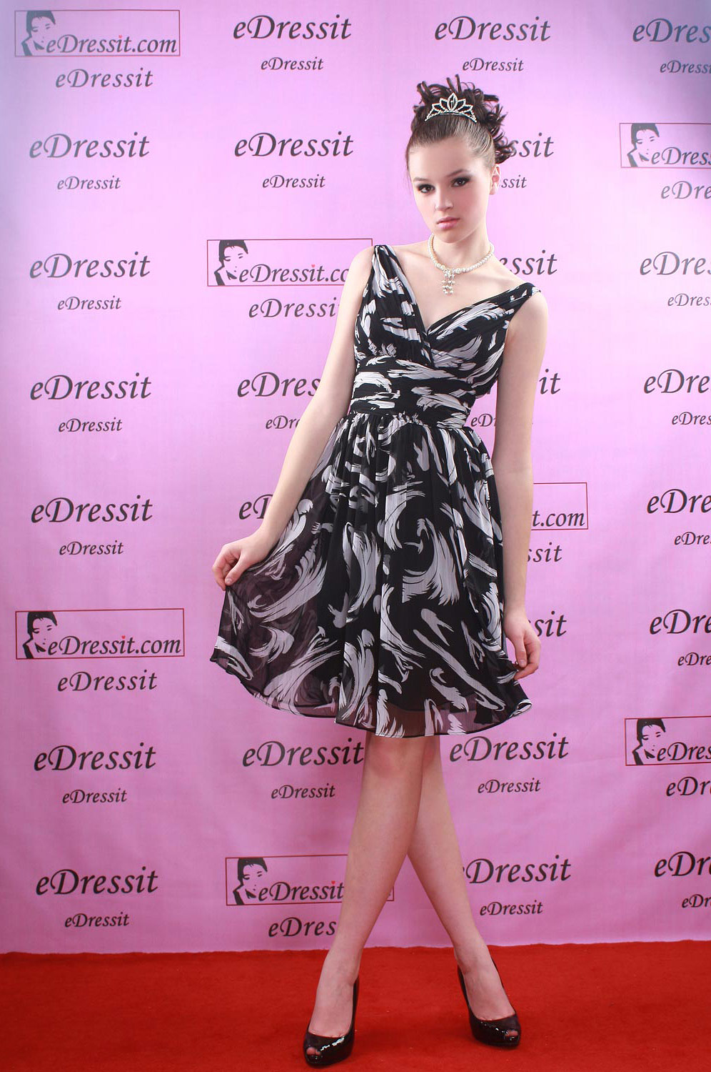eDressit Sexy Print Silk-Chiffon Short Cocktail Dress (04080700)