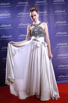 eDressit White Sequins long Belt Sexy Prom Ball Gown Evening Dress (00880107)