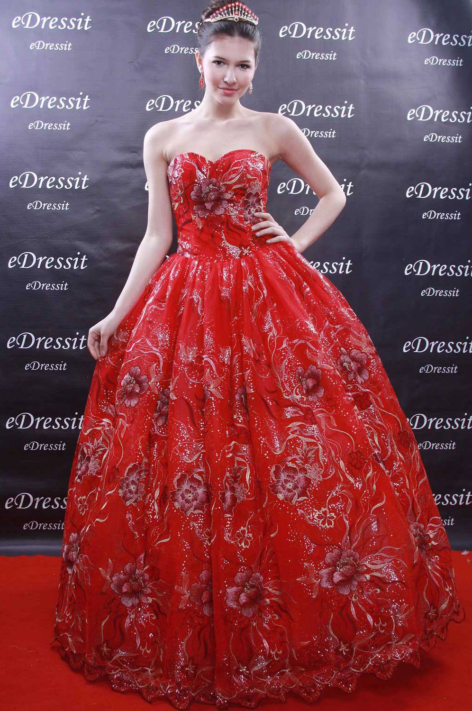 eDressit Red Prom Gown Evening Wedding Dress (01091402)