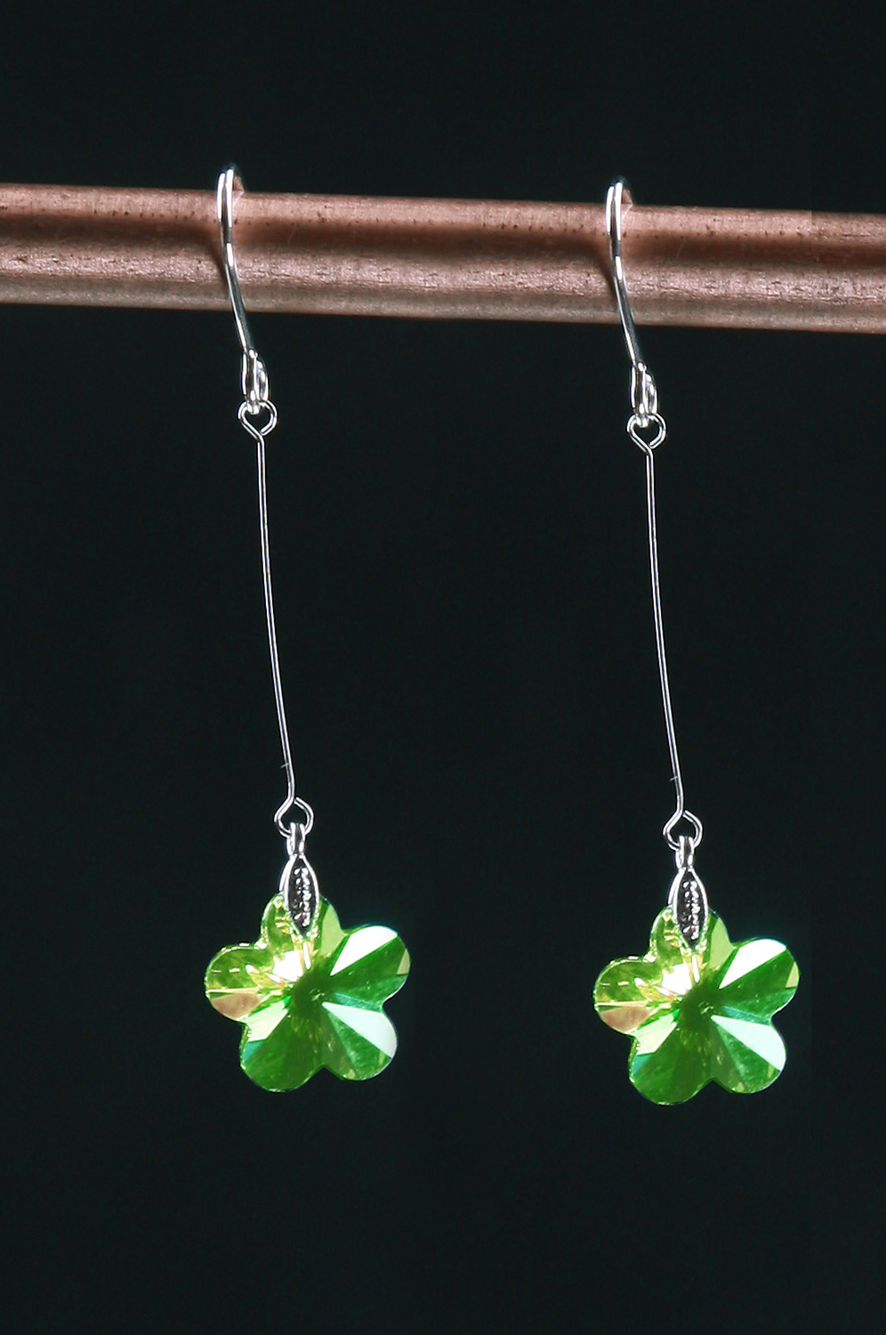 eDressit Green Srar-shape Charming Earring (11090704)