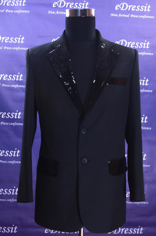 edressit costume Noire fait sur mesure (15090100)