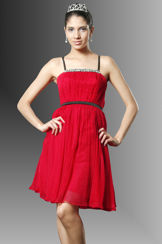 eDressit Sanaa Lathan  Herziges Rot Cocktailkleid (04094902)