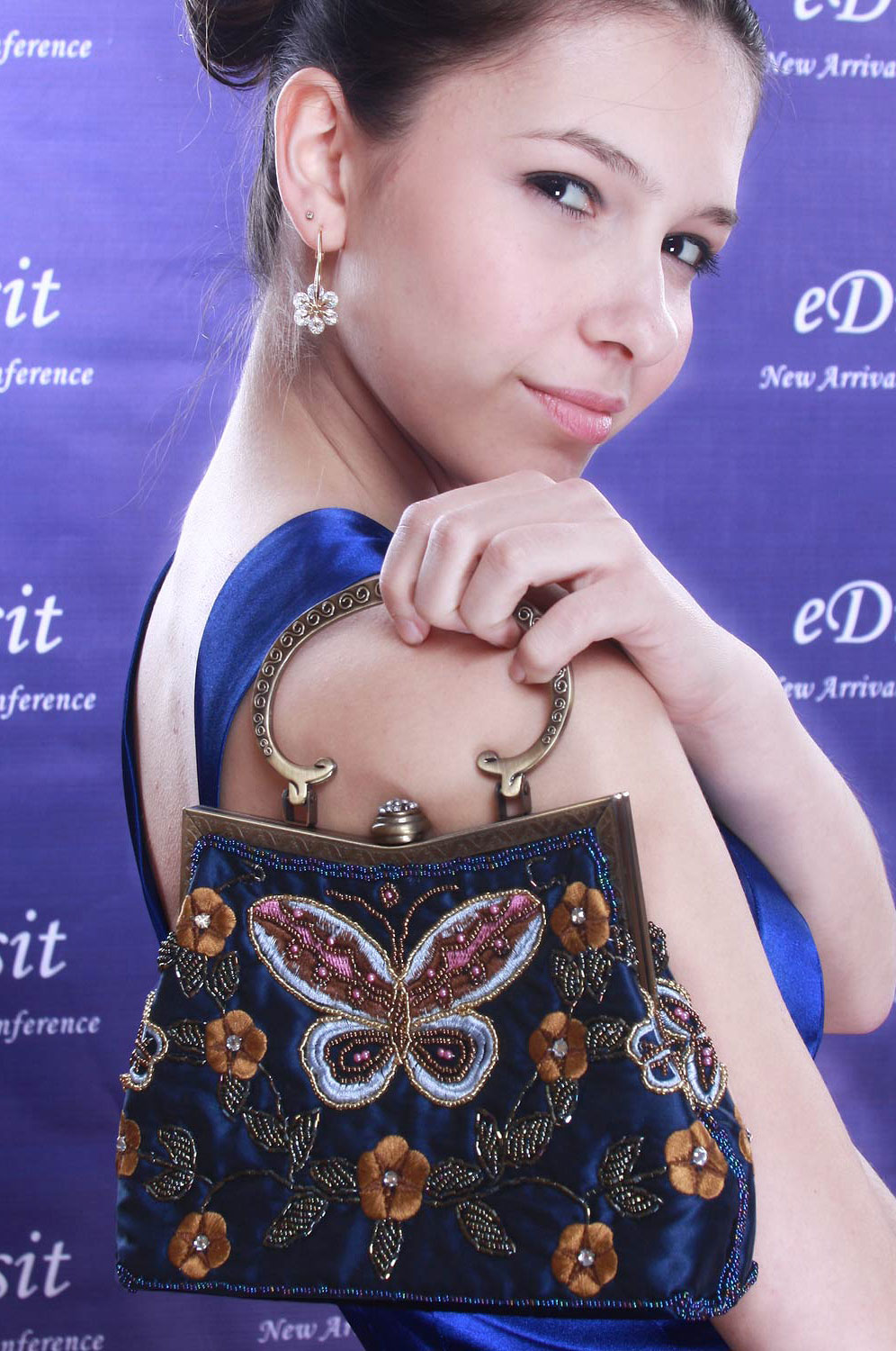 eDressit butterfly shape sequins Lady's Handbag/Purse (08091105)