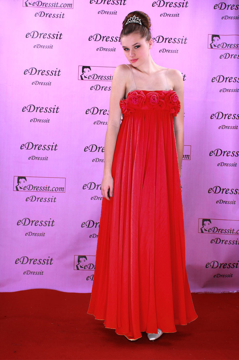 ON Sale!!eDressit Celebrity Sexy red Prom Gown Evening Dress (00083735f)