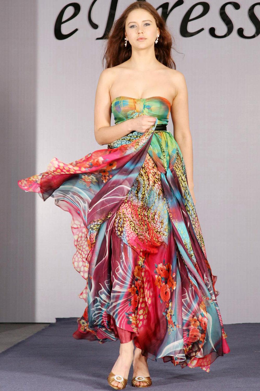 eDressit Strapless Silk Chiffon Elegant Evening Dress (00090668)