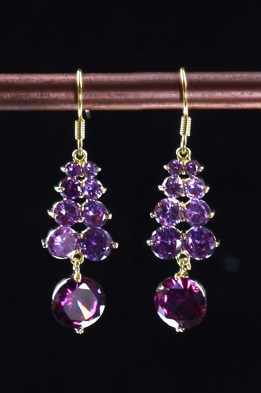 eDressit Purple Brightly Charming Earring (11090506)