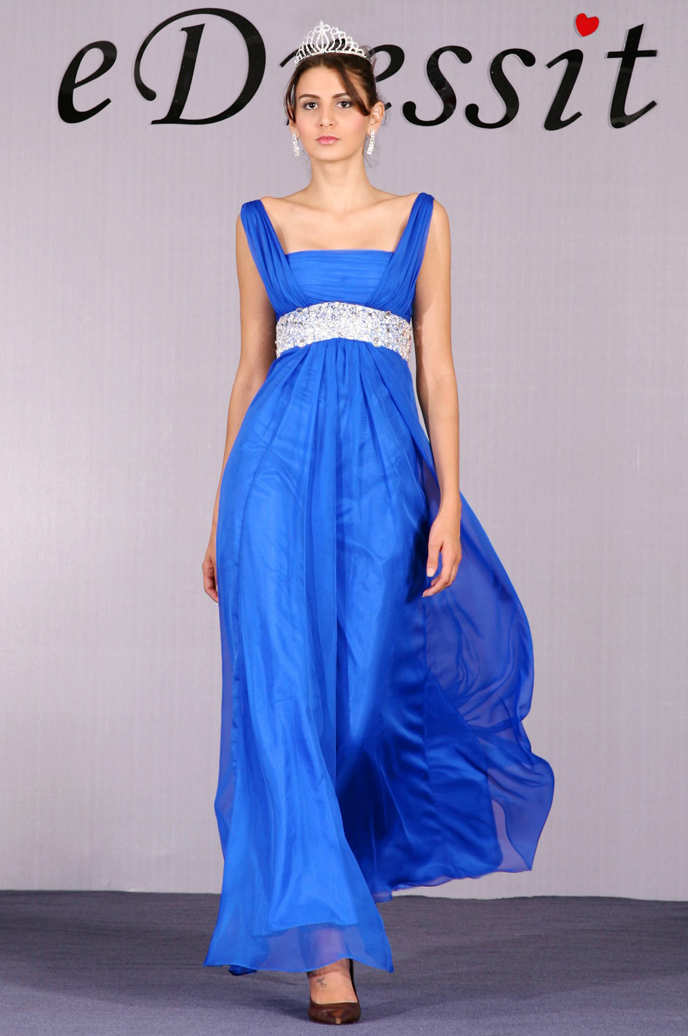 eDressit Blue Gorgeous Beaded Evening Dress (00092305)