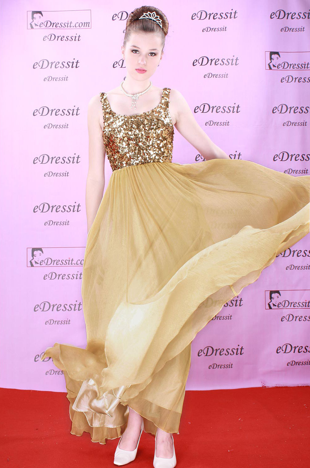 eDressit Gold Pailletten Ball Prom/ Evening Dress (00081614)