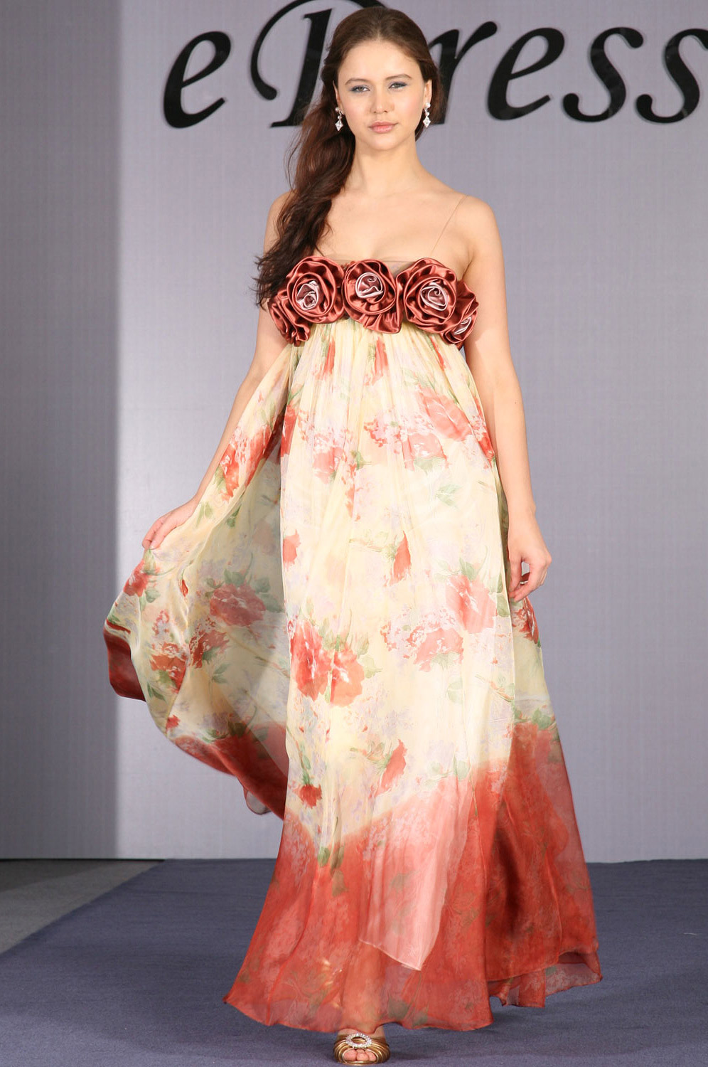 eDressit Floral Elegant Evening Dress (00093968)