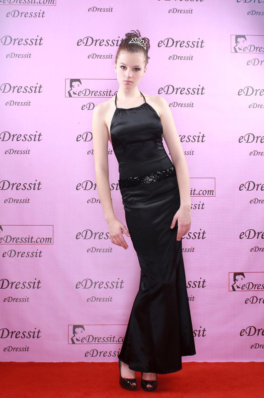 eDressit Elegante y Sexy Vestido Largo de Noche/Fiesta/Boda Negro (00050300h)