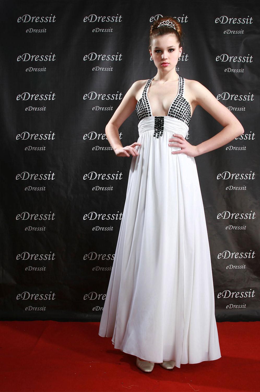 eDressit Elegante y Sexy Vestido Largo de Noche/Fiesta/Boda Blanco (00774807)