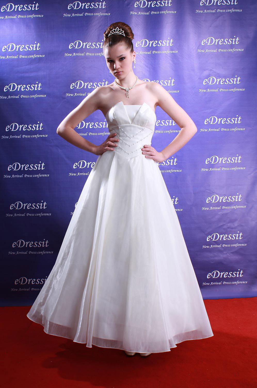 eDressit White Prom Gown Evening Wedding Dress (01080507)