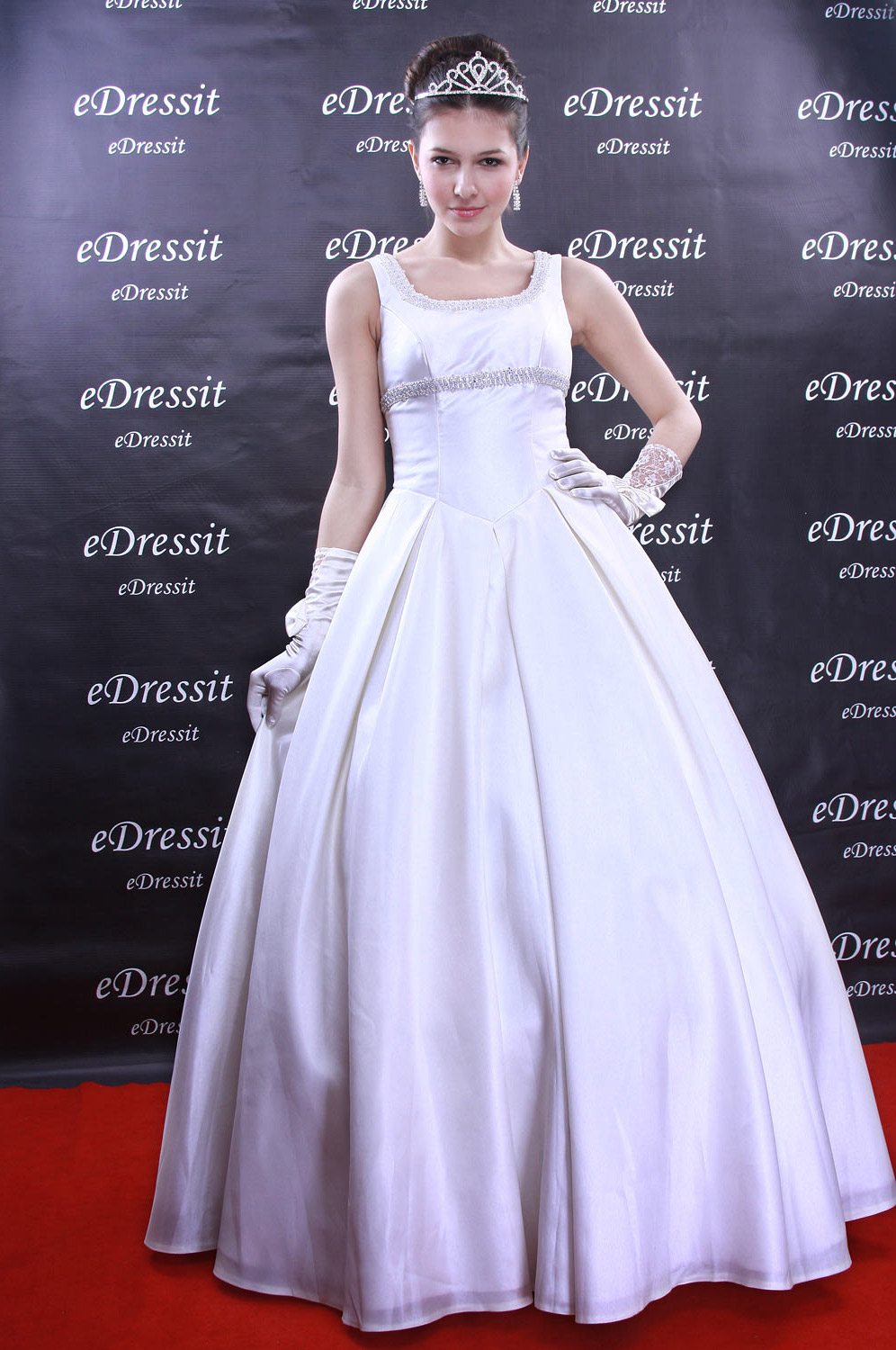 Christmas Discount 50% Off eDressit White Prom Gown Evening Wedding Dress (01091607)
