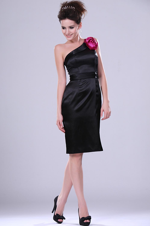 eDressit  Nuevo Adorable Negro Unico Hombro Vestido de Fiesta/Velada (04113300)
