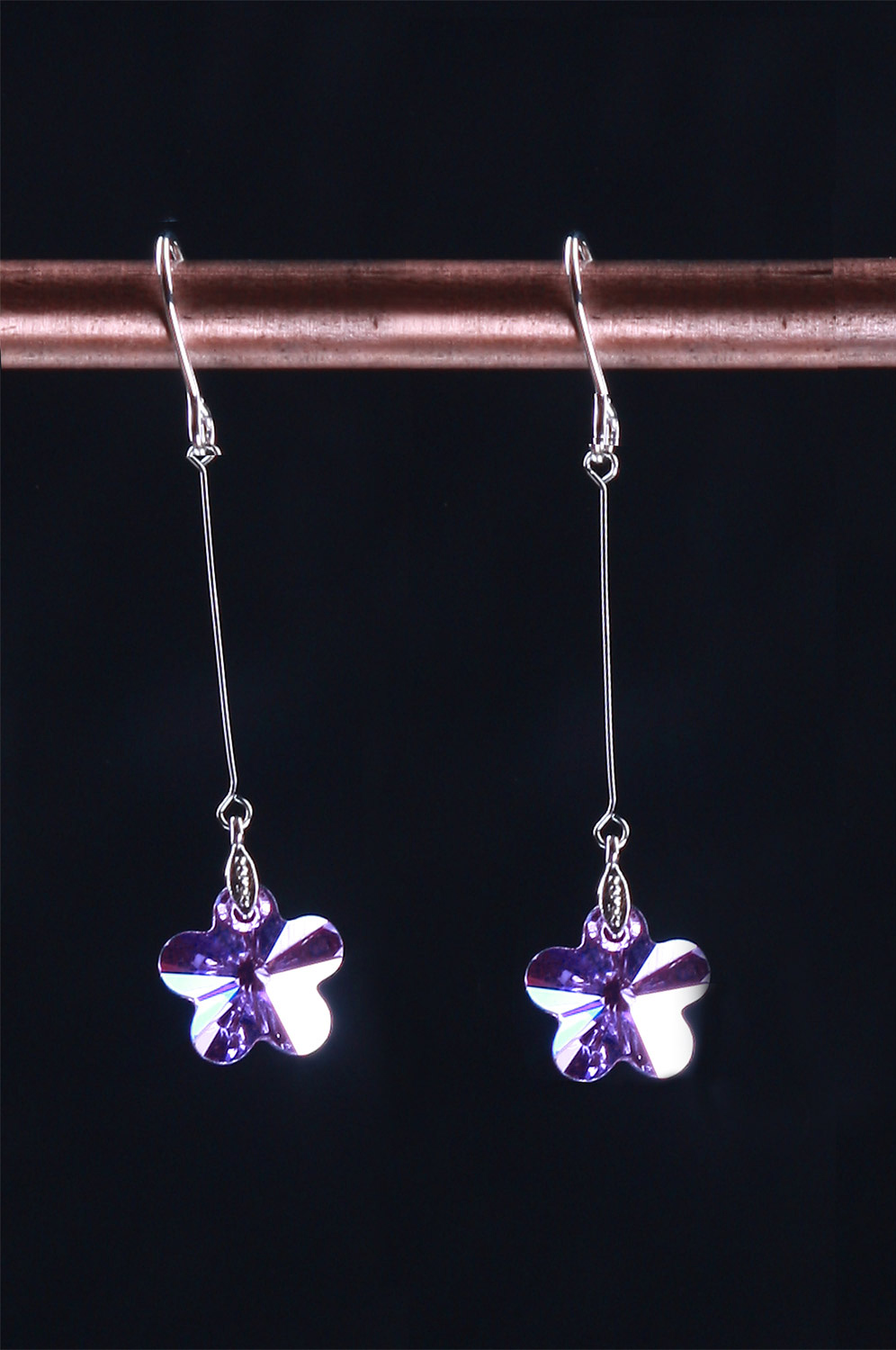 eDressit Chic Purple Srar-shape Earring (11090706)