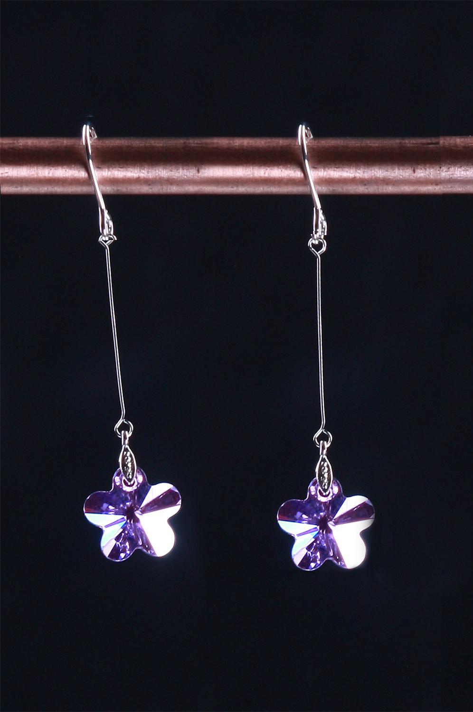 eDressit Chic Purple Srar-shape Earring (11090706)