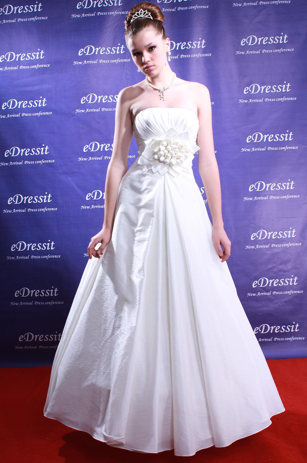eDressit White Prom Gown Evening Wedding Dress (01080307)
