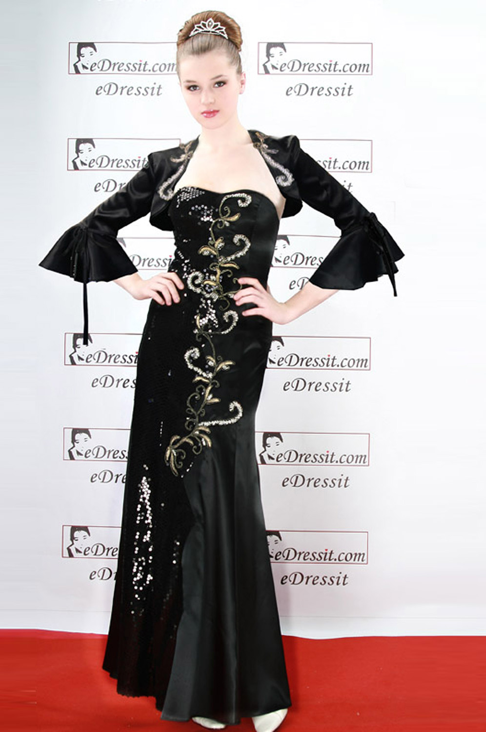 eDressit Black Elegant Prom Gown Evening Dress (00060800)