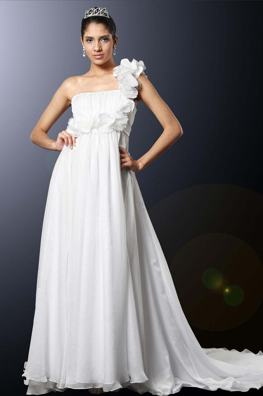 eDressit Elegant Ein-Schulter mit Rosen Abiballkleid (00101507)