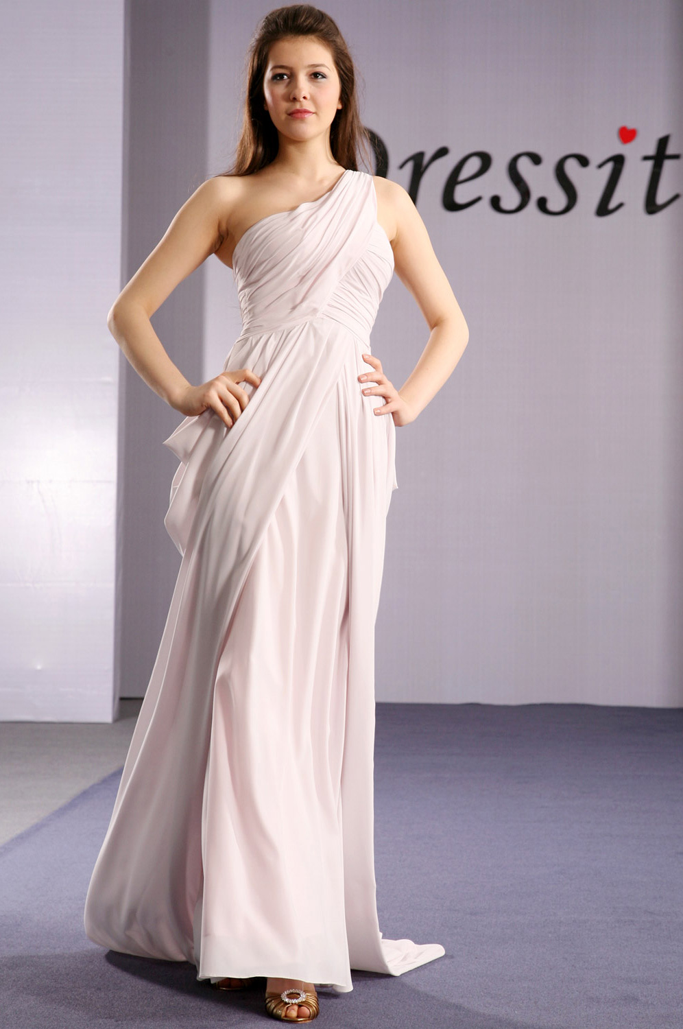 eDressit Elegant Single Shoulder Strap Evening Dress (00092246)