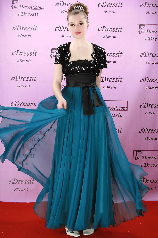 eDressit Robe de Soirée Magnifique avec Sequins Noir (00082605)