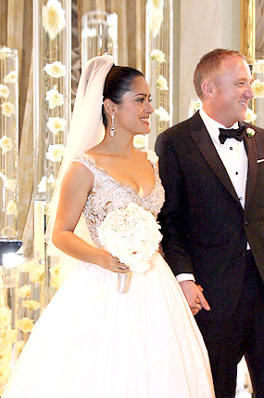 Edressit New Salma Hayek Amp Francois Henri Pinault Wedding